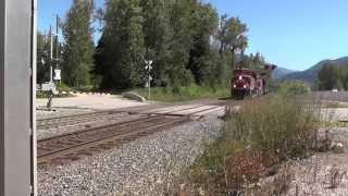 CP Rail -- CP 8731 West  Coal Unit Train at Malakwa.