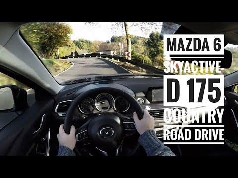mazda 6 skyactive d 175 2017 pov country road drive. Black Bedroom Furniture Sets. Home Design Ideas