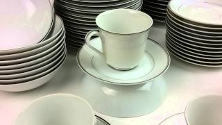 Fine China Of Japan - Simplicity Pattern - White With Platinum Bands