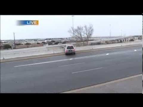 Accidents on icy Austin roads caught on camera