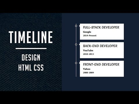Design A Vertical Timeline Using Only Html And CSS | Simple Timeline Design Html Css