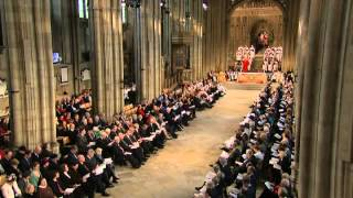 The new Archbishop of Canterbury is enthroned