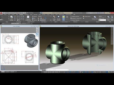 Socket Weld Cross Fittings In AutoCAD 3D/Mechanical Modeling