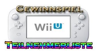 Wii U Gewinnspiel Teilnehmerliste