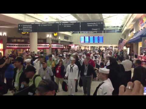 Veteran's salute in Chicago Midway Airport