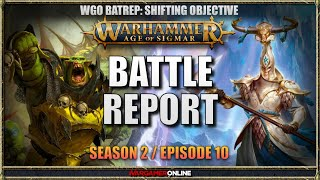 Lumineth Realm-lords vs Orruk Warclans Battle Report Age of Sigmar Warhammer