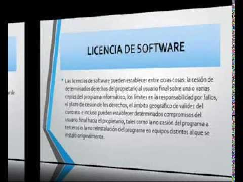 LICENCIA DE SOFTWARE, COPYRIGHT Y COPYLEFT