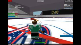 Ima score for you in ROBLOX hockey