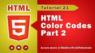 HTML video tutorial - 21 - Decimal vs Hexadecimal | RGB color values