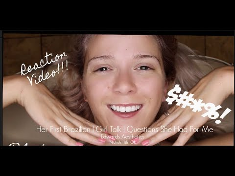Edwards Aesthetics  Her First Brazilian Reaction   Hard Wax