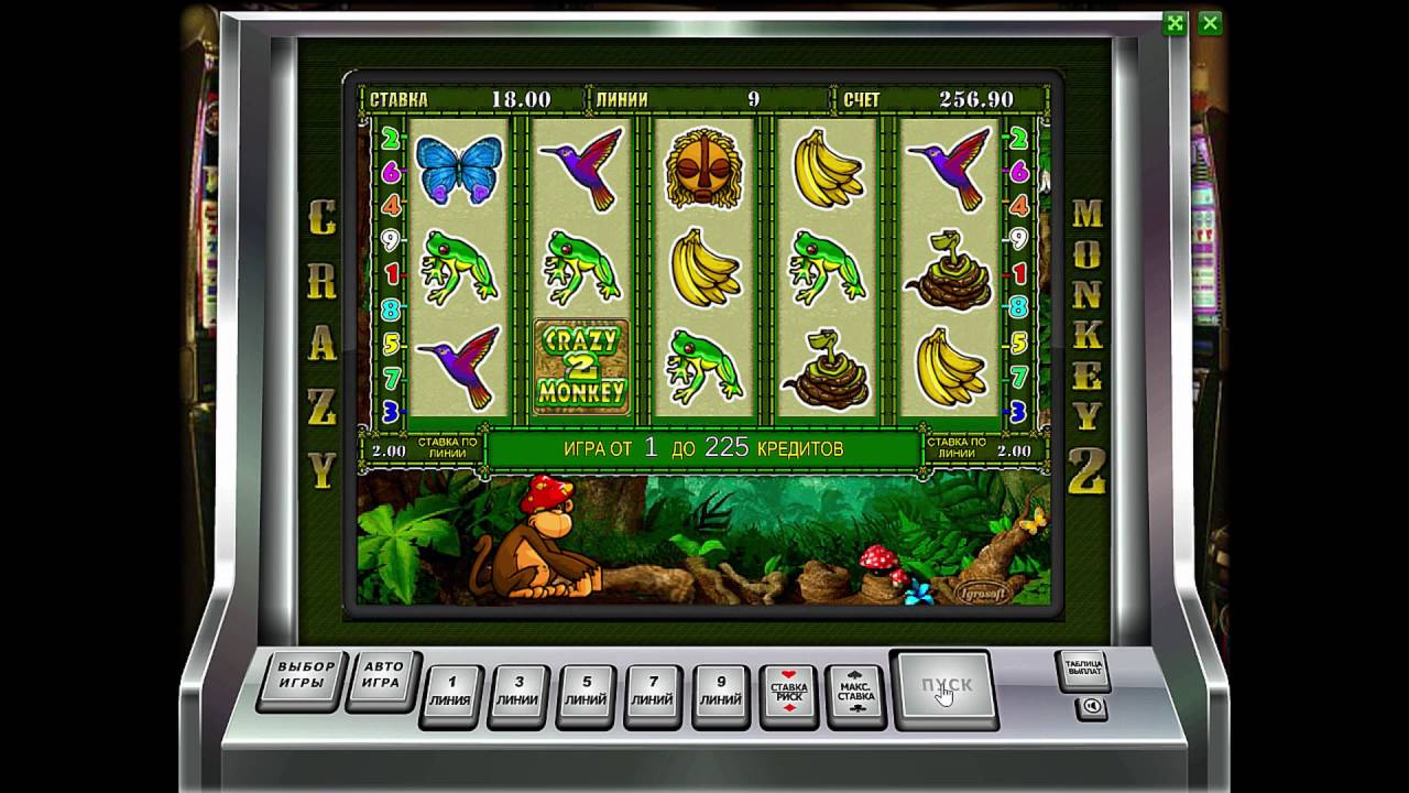Онлайн игровой автомат Crazy Monkey 2 (Обезьянки) | игрософт официальный сайт