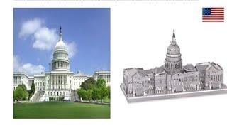 3D 메탈퍼즐 미국 국회의사당 !!! 두둥 난이도 하!