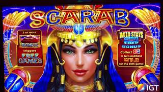 SCARAB SLOT MACHINE★NEW! PLAYING AT CASINO★ZEUS UNLEASHED★FOUR WINDS CASINO (IGT)