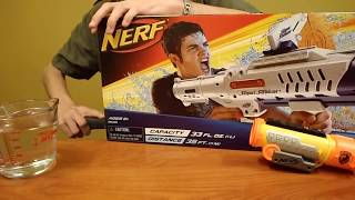 """Review:  The """"Nerf"""" Hydro Cannon Super Soaker integrations and accessories and unboxing"""