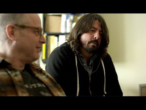 Dave Grohl and Barrett Jones at Laundry Room Studio