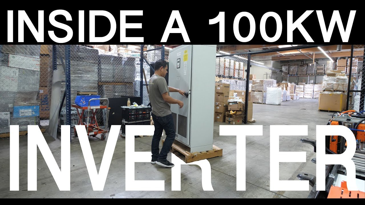 A LOOK INSIDE A 100KW 3 PHASE SOLAR GRID TIE INVERTER