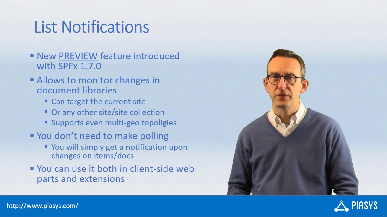 Episode #37 - List Notifications with SharePoint Framework 1 7 0