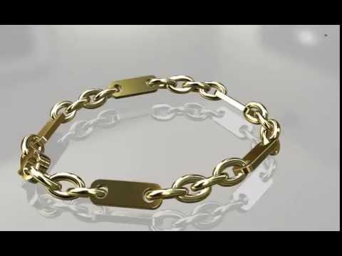 herrenarmband gold