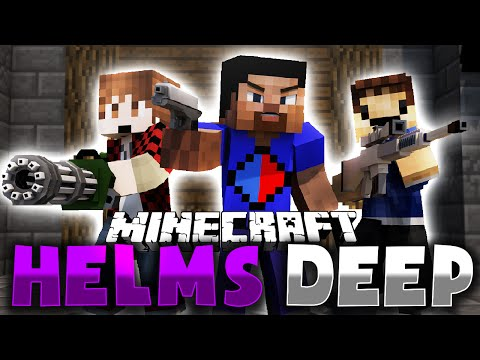 HELMS DEEP GUN MOD DEFENSE vs 100+ FANS in MINECRAFT