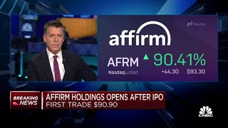 Affirm Holdings IPO Makes Its Trading Debut, First Trade At $90.90