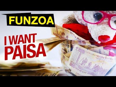 I Want Paisa Paisa Paisa   Funny Hindi Song On Money   Mimi Teddy   Funzoa Funny Song   Mimi Teddy