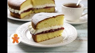 Торт Бисквит Королевы Виктории ✧ Victoria Sandwich Cake (English Subtitles)