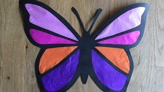 як зробити вітраж з кольорового паперу