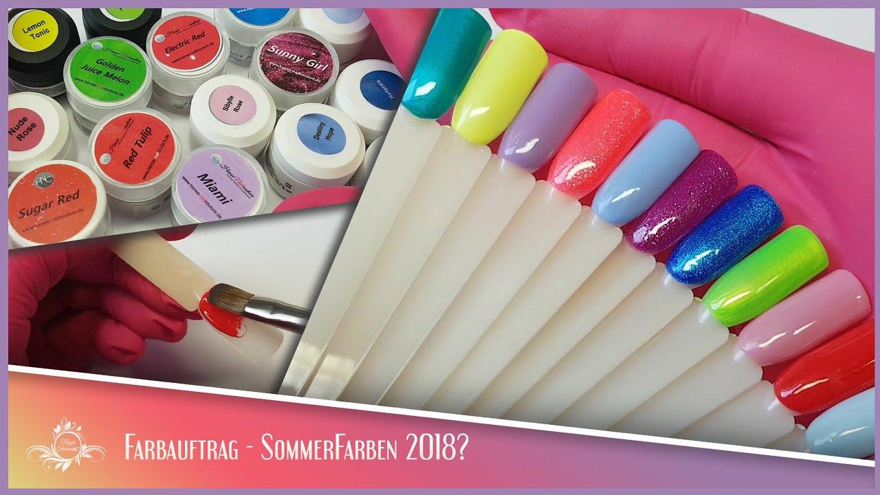 Sommer Farben 2018 Farbauftrag Youtube