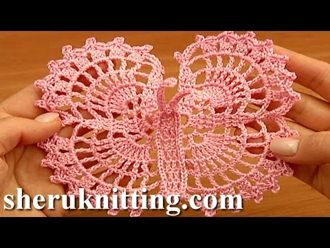 Crochet Large Butterfly Step-by-Step Tutorial 13 Free Croche