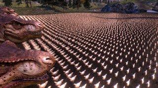 謎の圧倒的戦闘感!ニワトリ1万羽とティラノサウルス20頭が戦ったら勝つのはどっち?シミュレーションゲームで検証してみた。
