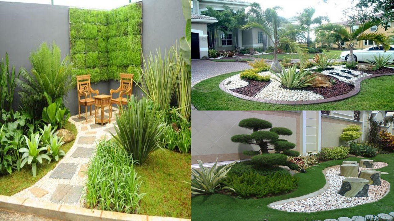 Amazing Small Garden Design Ideas With Pebbles || Small ... on Backyard Pebbles Design id=11243