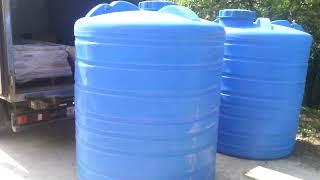 Купить пластиковую ёмкость, бочку 3 куба 3000 литров в Краснодаре(, 2018-07-04T08:03:15.000Z)