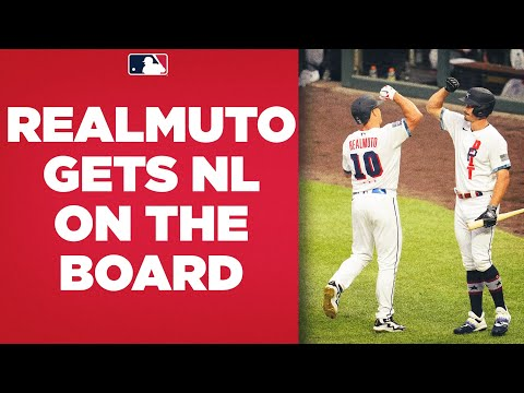 J.T. Realmuto homers to give the National League their first run of the All-Star Game!