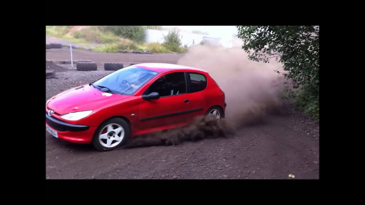 jake mckenna: peugeot 206 rally car shakedown - youtube