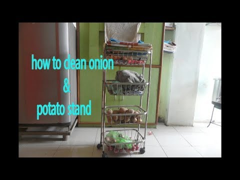HOW TO CLEAN ONION AND POTATO STAND EASILY 2018 BY SIMPLE LIVING WITH SHAHPER