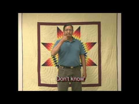 Hidatsa language -  20 entries with Plains Indian Sign Language