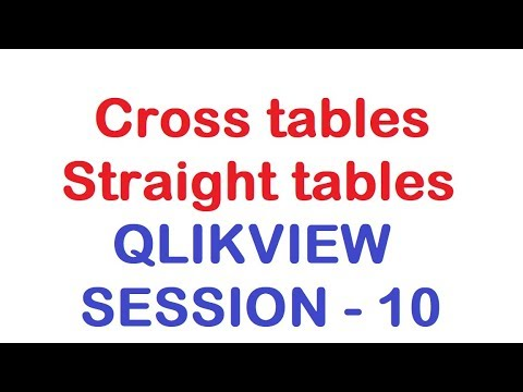 Cross tables and Straight tables - QlikView Tutorial - Session 10