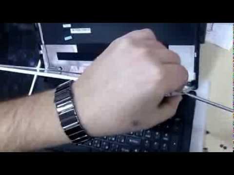 Lenovo G555, G550 screen replacement, замена матрицы ноутбука .