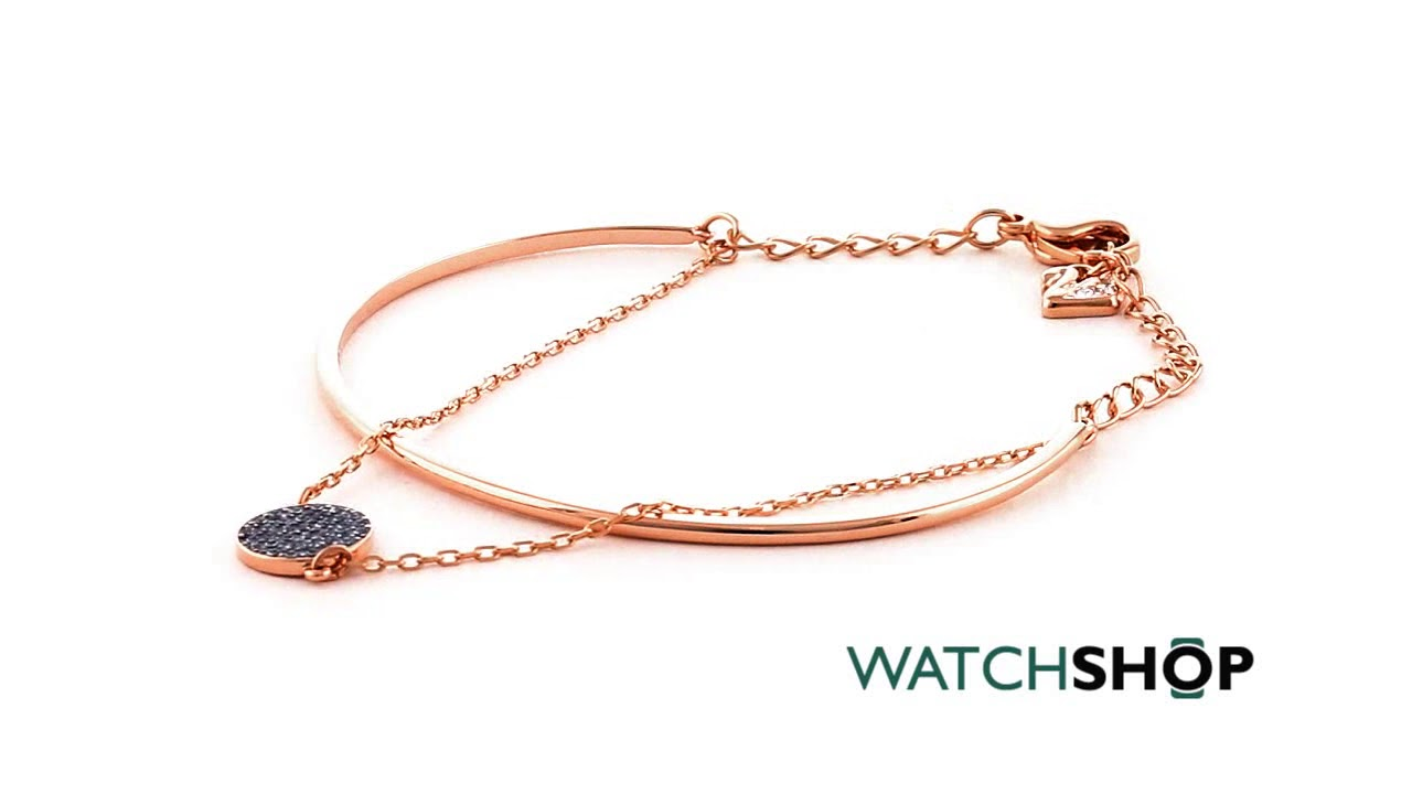 My Jewellery Story Ginger Bangle with Swarovski Crystals Rose Gold Plated 5qxOY