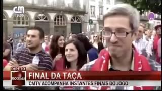 Adeptos do Braga a festejar antes da hora| Final Taça de Portugal Golo Montero