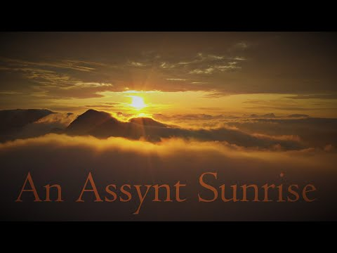 An Assynt Sunrise-Summit Camp-Aerial Footage-Timelapse-Hillwalking Scotland