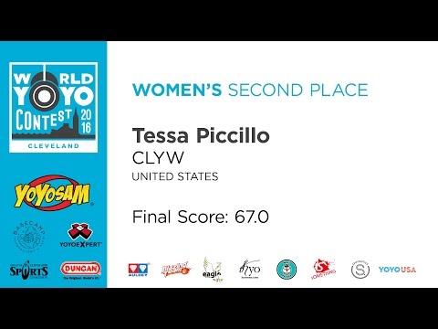 Tessa Piccillo - Women's - 2nd Place - 2016 World YoYo Contest