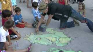 Chalk Artist David Zinn at the Ann Arbor Summer Festival #1