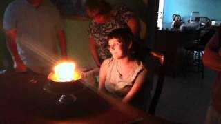 Girl can't blow out her own candles!!!!