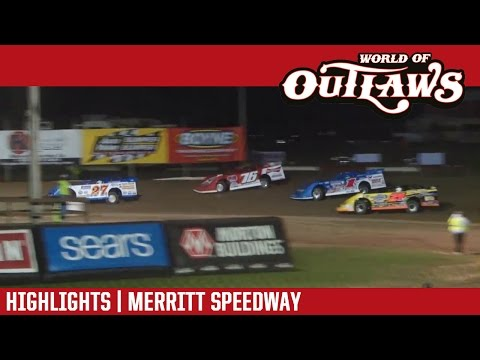 World of Outlaws Craftsman Late Models Merritt Speedway August 26th, 2016 | HIGHLIGHTS