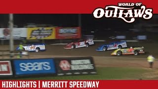World of Outlaws Craftsman Late Models Merritt Speedway Highlights