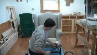 How To Reupholster A Wing Chair Pt 23
