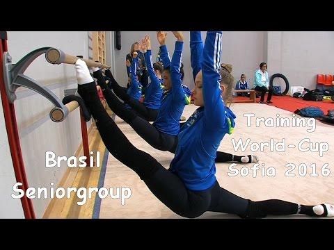 Seniorgroup Brasil (BRA) Training World Cup Sofia 2016