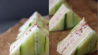 How To Make Tuna Cucumber Sandwiches - By One Kitchen Episode 746