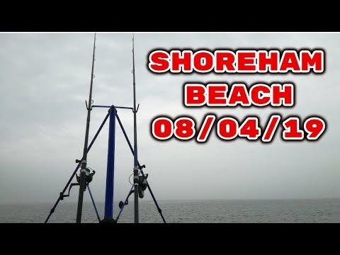 Fishing Shoreham Beach 08/04/2019